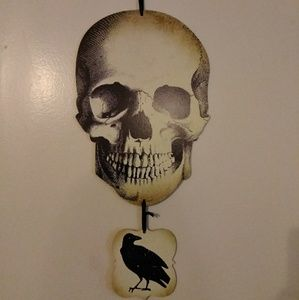 Halloween Skull & Raven Wood Wall Decor